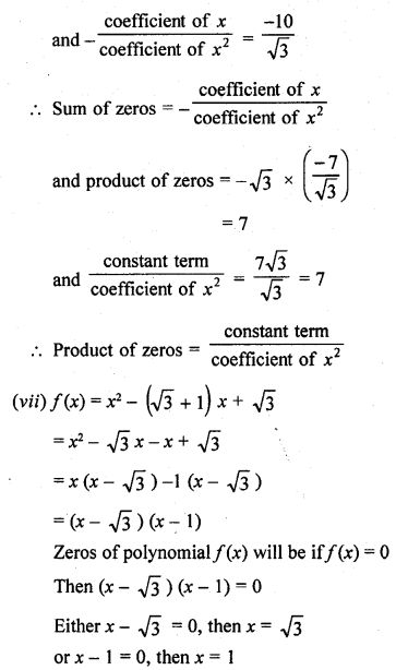 RD Sharma Class 10 Solutions Chapter 2 PolynomialsEx 2.1 10