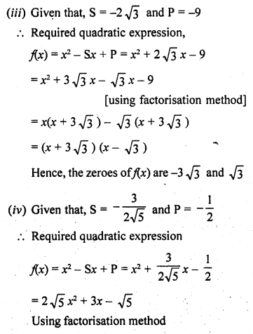 RD Sharma Class 10 Solutions Chapter 2 PolynomialsEx 2.1 21
