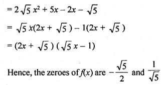 RD Sharma Class 10 Solutions Chapter 2 PolynomialsEx 2.1 22