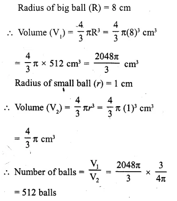 RD Sharma Class 10 Solutions Chapter 14 Surface Areas and VolumesEx 14.1 1