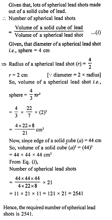 RD Sharma Class 10 Solutions Chapter 14 Surface Areas and VolumesEx 14.1 10