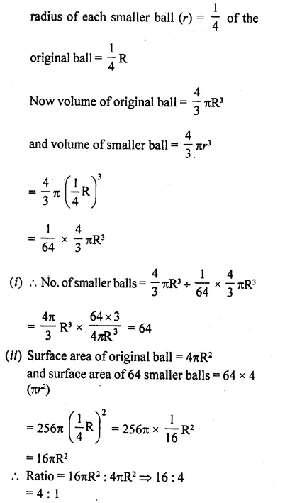 RD Sharma Class 10 Solutions Chapter 14 Surface Areas and VolumesEx 14.1 14