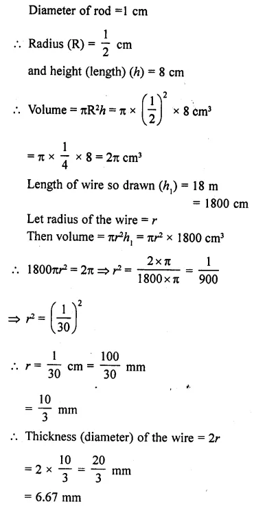 RD Sharma Class 10 Solutions Chapter 14 Surface Areas and VolumesEx 14.1 16