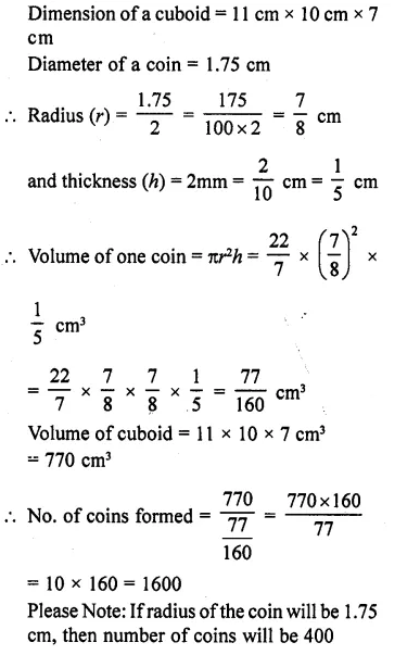 RD Sharma Class 10 Solutions Chapter 14 Surface Areas and VolumesEx 14.1 18