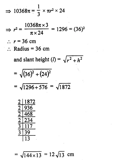 RD Sharma Class 10 Solutions Chapter 14 Surface Areas and VolumesEx 14.1 21