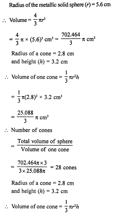 RD Sharma Class 10 Solutions Chapter 14 Surface Areas and VolumesEx 14.1 22