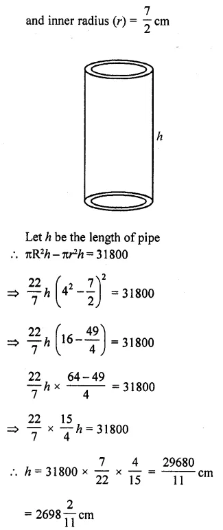 RD Sharma Class 10 Solutions Chapter 14 Surface Areas and VolumesEx 14.1 25