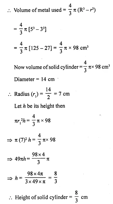 RD Sharma Class 10 Solutions Chapter 14 Surface Areas and VolumesEx 14.1 27
