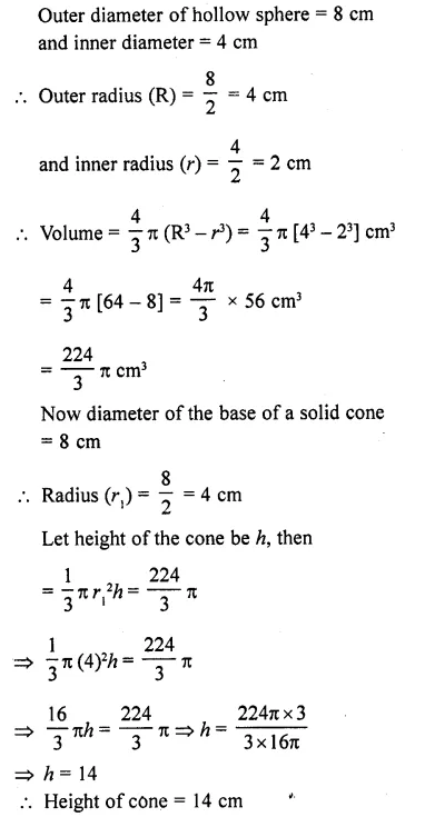 RD Sharma Class 10 Solutions Chapter 14 Surface Areas and VolumesEx 14.1 28