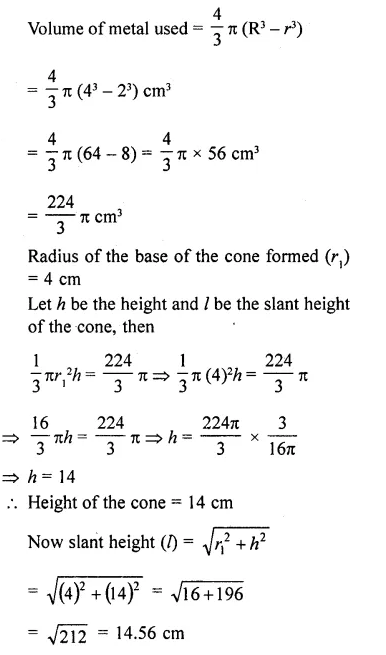 RD Sharma Class 10 Solutions Chapter 14 Surface Areas and VolumesEx 14.1 29
