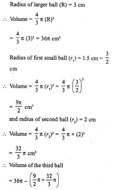 RD Sharma Class 10 Solutions Chapter 14 Surface Areas and VolumesEx 14.1 3