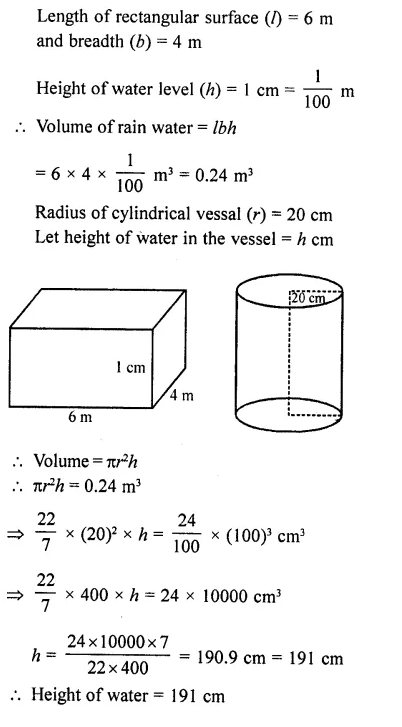 RD Sharma Class 10 Solutions Chapter 14 Surface Areas and VolumesEx 14.1 40