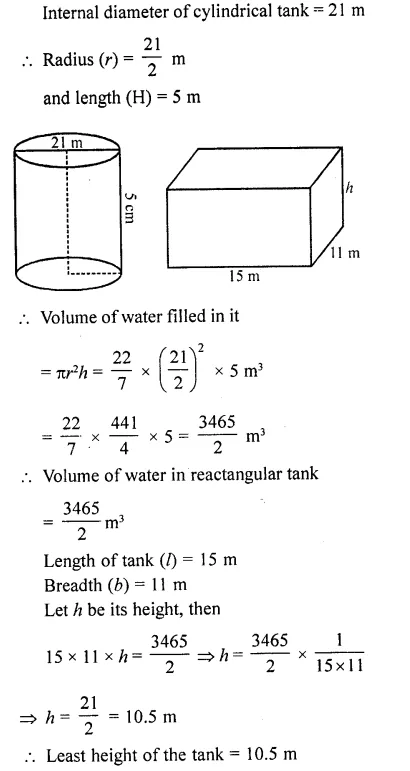RD Sharma Class 10 Solutions Chapter 14 Surface Areas and VolumesEx 14.1 43