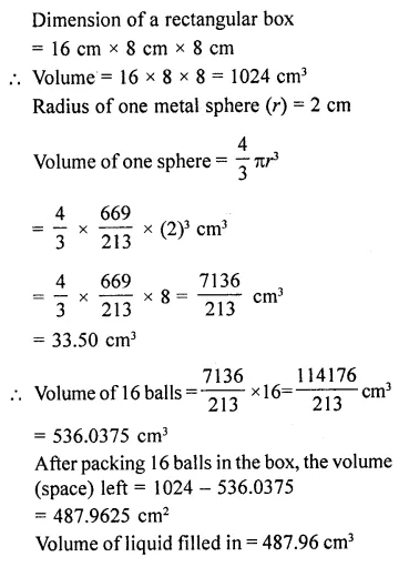 RD Sharma Class 10 Solutions Chapter 14 Surface Areas and VolumesEx 14.1 49