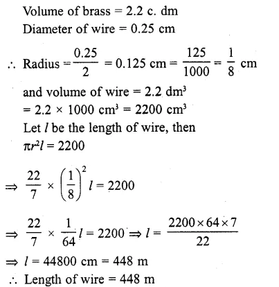 RD Sharma Class 10 Solutions Chapter 14 Surface Areas and VolumesEx 14.1 5