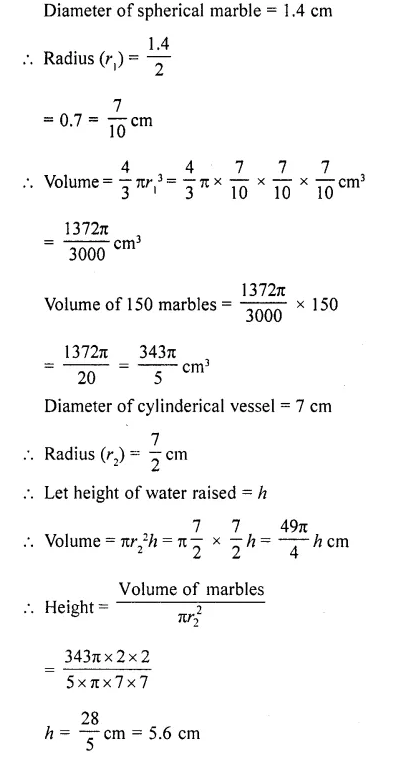 RD Sharma Class 10 Solutions Chapter 14 Surface Areas and VolumesEx 14.1 51