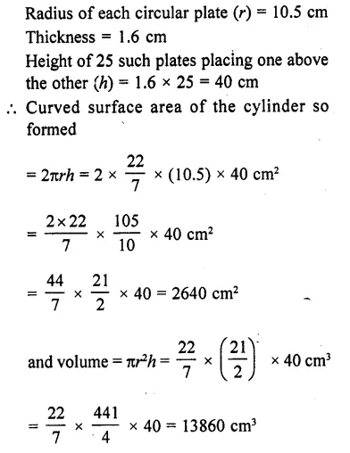RD Sharma Class 10 Solutions Chapter 14 Surface Areas and VolumesEx 14.1 6