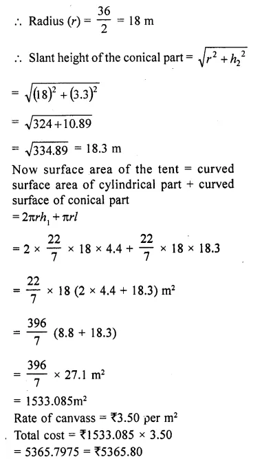 RD Sharma Class 10 Solutions Chapter 14 Surface Areas and VolumesEx 14.1 61