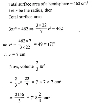 RD Sharma Class 10 Solutions Chapter 14 Surface Areas and VolumesEx 14.1 70