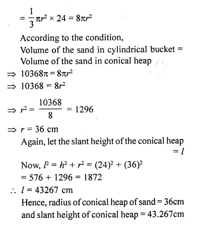 RD Sharma Class 10 Solutions Chapter 14 Surface Areas and VolumesEx 14.1 74