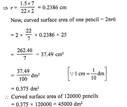RD Sharma Class 10 Solutions Chapter 14 Surface Areas and VolumesEx 14.1 76