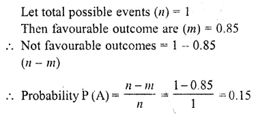RD Sharma Class 10 Solutions Chapter 16 Probability Ex 16.1 1