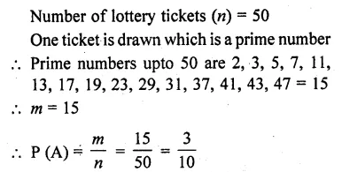 RD Sharma Class 10 Solutions Chapter 16 Probability Ex 16.1 10
