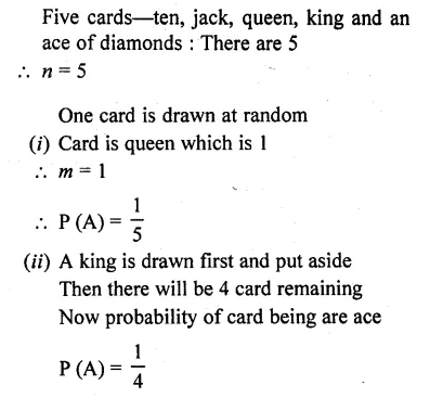 RD Sharma Class 10 Solutions Chapter 16 Probability Ex 16.1 22