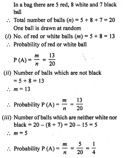 RD Sharma Class 10 Solutions Chapter 16 Probability Ex 16.1 29