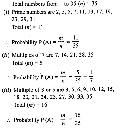 RD Sharma Class 10 Solutions Chapter 16 Probability Ex 16.1 32