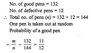 RD Sharma Class 10 Solutions Chapter 16 Probability Ex 16.1 38