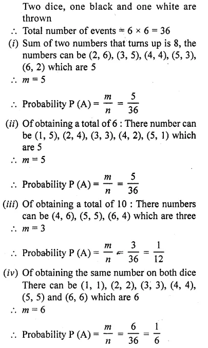 RD Sharma Class 10 Solutions Chapter 16 Probability Ex 16.1 57
