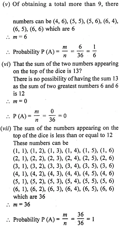 RD Sharma Class 10 Solutions Chapter 16 Probability Ex 16.1 58