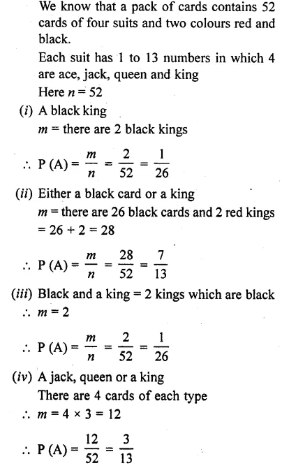 RD Sharma Class 10 Solutions Chapter 16 Probability Ex 16.1 6