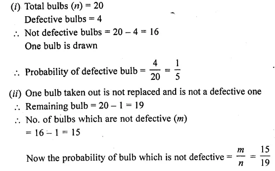 RD Sharma Class 10 Solutions Chapter 16 Probability Ex 16.1 61