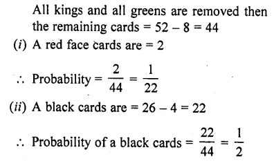 RD Sharma Class 10 Solutions Chapter 16 Probability Ex 16.1 71