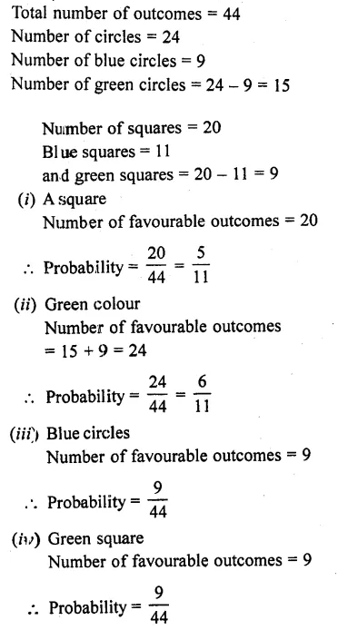 RD Sharma Class 10 Solutions Chapter 16 Probability Ex 16.1 74