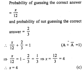 RD Sharma Class 10 Solutions Chapter 16 Probability Ex MCQS 11