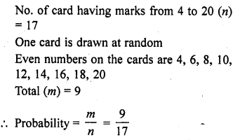 RD Sharma Class 10 Solutions Chapter 16 Probability Ex VSAQS 1