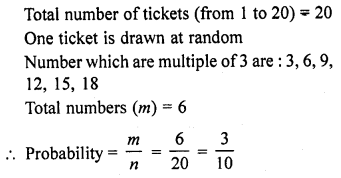 RD Sharma Class 10 Solutions Chapter 16 Probability Ex VSAQS 10