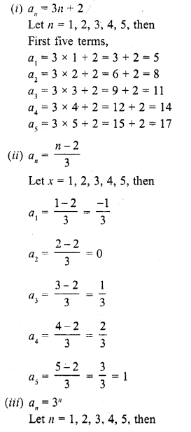 RD Sharma Class 10 Solutions Chapter 5 Arithmetic ProgressionsEx 5.1 2