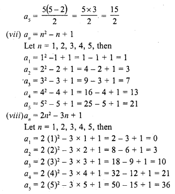 RD Sharma Class 10 Solutions Chapter 5 Arithmetic ProgressionsEx 5.1 5