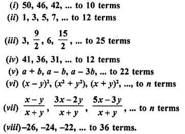 RD Sharma Class 10 Solutions Chapter 5 Arithmetic ProgressionsEx 5.6 1