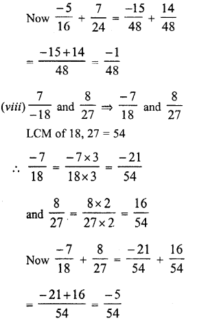RD Sharma Class 8 Solutions Chapter 1 Rational NumbersEx 1.1 10