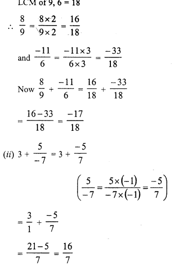 RD Sharma Class 8 Solutions Chapter 1 Rational NumbersEx 1.1 13