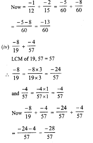 RD Sharma Class 8 Solutions Chapter 1 Rational NumbersEx 1.1 15