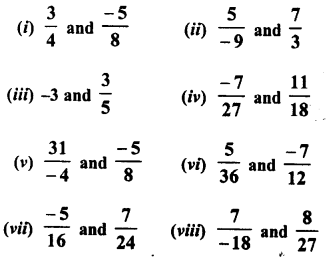 RD Sharma Class 8 Solutions Chapter 1 Rational NumbersEx 1.1 4