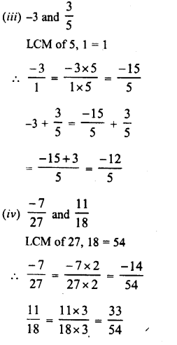 RD Sharma Class 8 Solutions Chapter 1 Rational NumbersEx 1.1 7