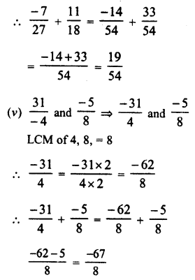 RD Sharma Class 8 Solutions Chapter 1 Rational NumbersEx 1.1 8