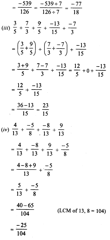 RD Sharma Class 8 Solutions Chapter 1 Rational NumbersEx 1.2 26